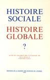Christophe Charle - Histoire sociale, histoire globale ? - Actes du colloque des 27-28 janvier 1989.
