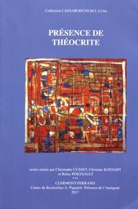 Christophe Cusset et Christine Kossaifi - Présence de Théocrite.