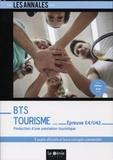 Christophe Dechavanne - Production d'une prestation touristique Epreuve E4-U42 BTS Tourisme - 5 sujets officiels et leurs corrigés.