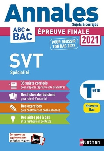 SVT spécialité Tle  Edition 2021