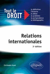 Christophe Euzet - Relations internationales.