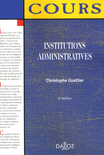 Institutions administratives 4e édition
