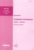 Christophe Iung - Agrégation Sciences physiques, Option chimie - Concours externe.