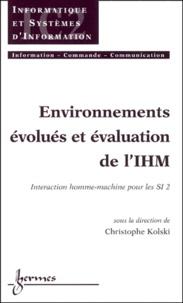 Environnements évolués et évaluation de lIHM - Tome 2, Interaction homme-machine.pdf