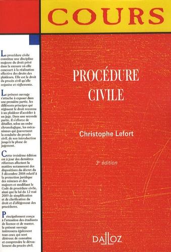 Procédure civile 3e édition