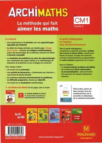 Archimaths CM1 Cycle 3. Avec Mémo des maths  Edition 2018