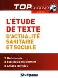 Christophe Marie - L'étude de texte d'actualité sanitaire et sociale - Méthodologie et entraînement. AS-AP-IFSI.