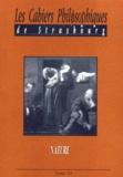 Christophe Masutti - Les Cahiers Philosophiques de Strasbourg N° 10 : Nature.