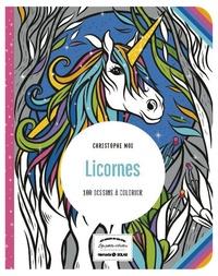 Christophe Moi - Licornes - 100 dessins à colorier.