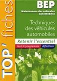 Christophe Orgaer et Fabrice Pallenot - Techniques des véhicules automobiles BEP Maintenance des véhicules automobiles.