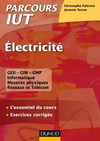 Christophe Palermo et Jérémie Torres - Electricité - L'essentiel du cours - Exercices corrigés.