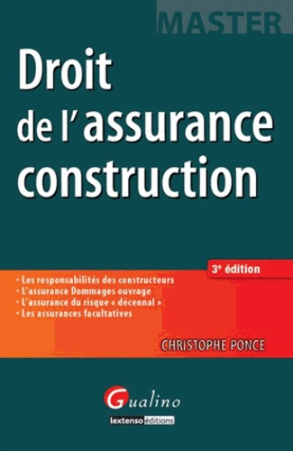 Christophe Ponce - Droit de l'assurance construction.