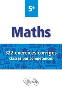 Christophe Poulain - Mathématiques 5e - 322 exercices corrigés classés par compétences.