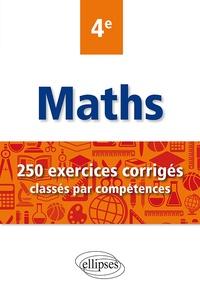Rhonealpesinfo.fr Maths 4e - 250 exercices corrigés classés par compétences Image