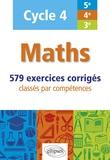 Christophe Poulain - Maths cycle 4 (5e, 4e et 3e) - 579 exercices corrigés classés par compétences.