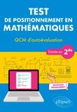 Christophe Poulain - Test de positionnement en mathématiques - QCM d'autoévaluation entrée en 2de.