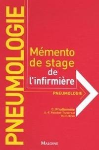 Christophe Prudhomme et Marie-France Brun - Pneumologie - Mémento de stage de l'infirmière.