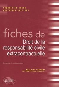 Fiches de droit responsabilité civile extracontractuelle- Rappels de cours et exercices corrigés - Christophe Quézel-Ambrunaz pdf epub