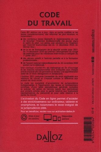 Code du travail. Annoté et commenté en ligne  Edition 2021