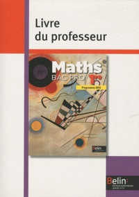 Deedr.fr Maths 1e Bac pro - Livre du professeur, programme 2010 Image