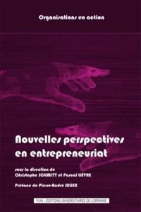 Christophe Schmitt et Pascal Lièvre - Nouvelles perspectives en entrepreneuriat : de la pratique aux activités entrepreneuriales.