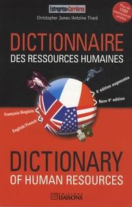 Christopher James et Antoine Tirard - Dictionnaire français/anglais des ressources humaines.