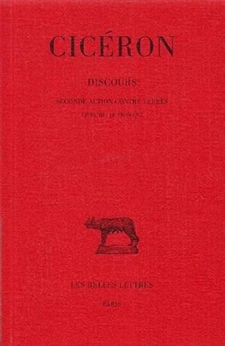 Cicéron - Discours - Tome 4, Seconde action contre Verrès, Livre 3 : Le Froment.