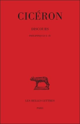 Cicéron - Discours - Tome 19, Philippiques 1 à 4.