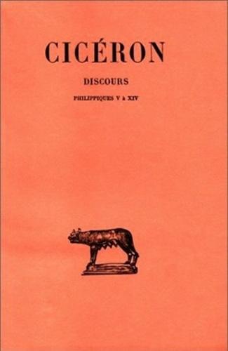 Cicéron - Discours. - Tome 20 : Philippiques V-XIV.