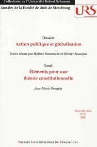 Hajimé Yamamoto et Olivier Jouanjan - Annales de la Faculté de droit de Strasbourg N° 8, 2006 : Action publique et globalisation.