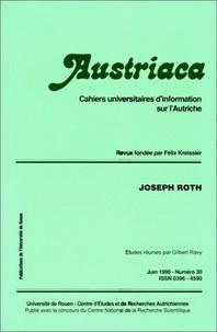 Auteurs divers - Austriaca N° 30 : Joseph Roth.