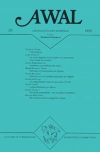 Yacine Tassadit et  Collectif - Awal n° 20 1999 : Femmes et politique au Maghreb.