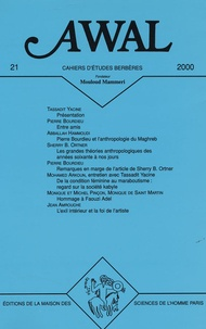 Yacine Tassadit et Pierre Bourdieu - Awal N° 21 : Autour de Pierre Bourdieu et de l'anthropologie.