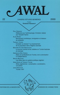 Abdesslem Ben Hamida et Madjid Benchikh - Awal N° 22 : Les élites au Maghreb.