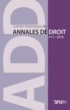 Gilduin Davy et Virginie Lemonnier-Lesage - Cahiers historiques des annales de droit N° 3 : Le parlement.