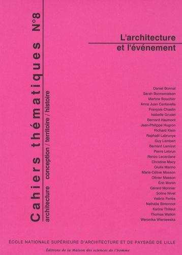 Richard Klein et Eric Monin - Cahiers thématiques N° 8 : L'architecture et l'événement.