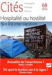 Christian Godin - Cités N° 68/2016 : Hospitalité ou hostilité - Face à la crise migratoire.
