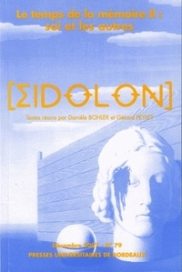 Danielle Bohler et Gérard Peylet - Eidôlon N° 79, Décembre 2007 : Le temps de la mémoire - Volume 2, Soi et les autres.