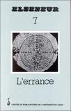 Pierre Barbéris - Elseneur N° 7 : L'ERRANCE.