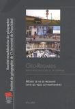 Emmanuel Ravalet et Lourdes Diaz-Olvera - Géo-Regards N° 6, 2013 : Modes de vie de proximité dans les villes contemporaines.