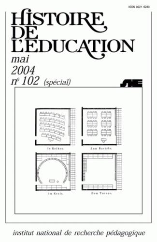 Anne-Marie Châtelet et Marc Le Coeur - Histoire de l'éducation N° 102, mai 2004 : L'architecture scolaire - Essai d'historiographie internationale.
