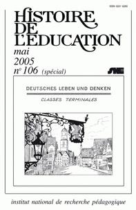 Monique Mombert - Histoire de l'éducation N° 106 : L'enseignement de l'allemand : XIXe-XXIe siècles - Edition quadrilingue français-anglais-allemand-espagnol.