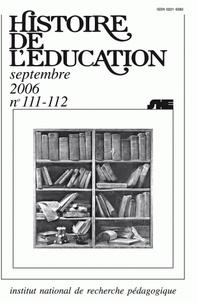Vincent Alamercery - Histoire de l'éducation N° 111-112, septembr : Bibliographie d'histoire de l'éducation française - Titres parus au cours de l'année 2003 et suppléments des années antérieures.