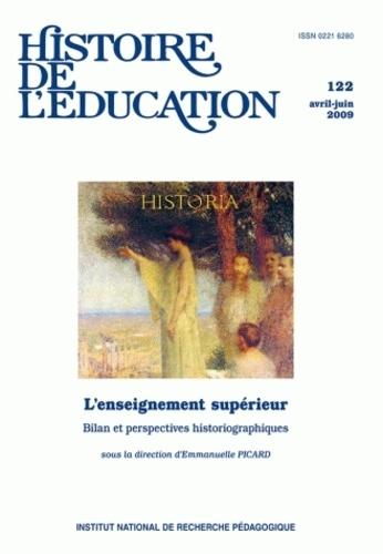 Emmanuelle Picard et Pierre Caspard - Histoire de l'éducation N° 122, Avril-Juin 2 : L'enseignement supérieur - Bilan et perspectives historiographiques.