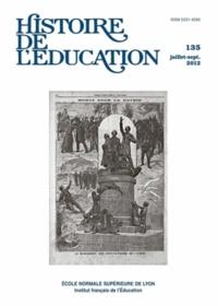 Jérémie Dubois et Jean-François Chanet - Histoire de l'éducation N° 135, Juillet-sept : .