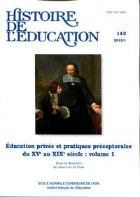 Cam jean-luc Le - Histoire de l'éducation N° 143/2015 : .