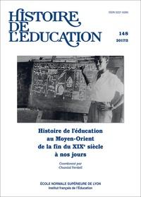 Chantal Verdeil - Histoire de l'éducation N° 148/2017 : Histoire de l'éducation au Moyen-Orient de la fin du XIXe siècle à nos jours.