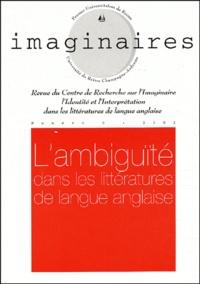 Daniel Thomières - Imaginaires N° 8/2002 : L'ambiguïté dans les littératures de langue anglaise.
