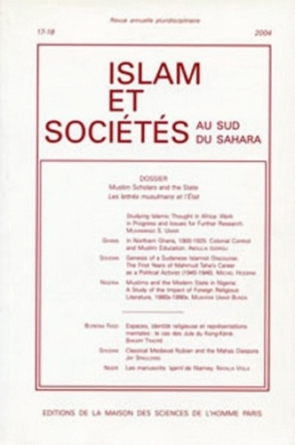 MSH - Islam & sociétés au sud du Sahara N° 17-18/2004 : .