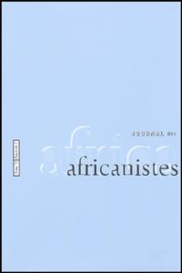 Françoise Héritier et Anne Luxereau - Journal des africanistes N° 73, fascicule 2 : .